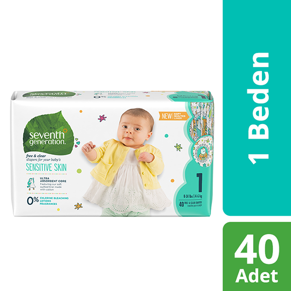 Seventh Generation 1 Beden Bebek Bezi  1 Beden - 1