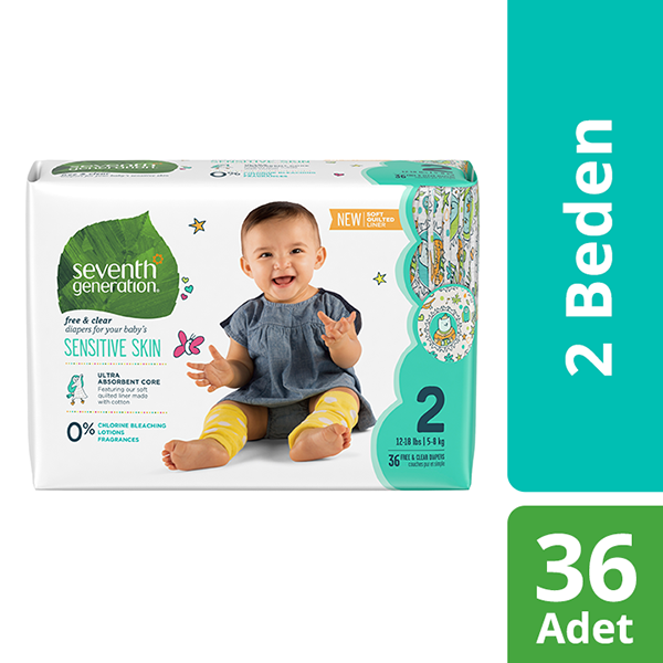Seventh Generation 2 Beden Bebek Bezi  2 Beden - 1