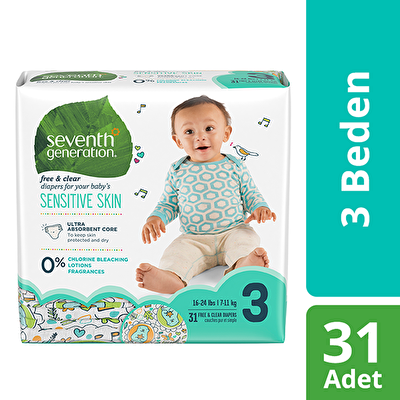 Seventh Generation 3 Beden Bebek Bezi 3 Beden - 1