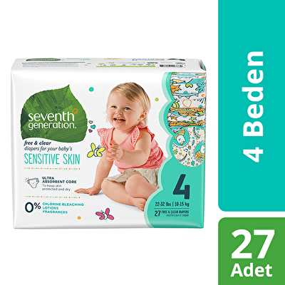 Seventh Generation 4 Beden Bebek Bezi  4 Beden - 1